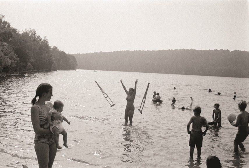 The 1976 photographs on view in the Provincetown exhibition use news and press as tools