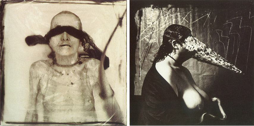 Joel-Peter Witkin - Cadaver with Necklace, 1980 (left) - Woman Breastfeeding an Eel ,1979 (right) - images via correnticalde.com.jpg