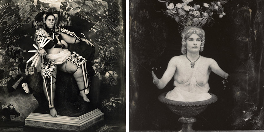 Joel-Peter Witkin - Female King, 1997 (left) - Abundance ,1997 (right) - images via artnet.com.jpg