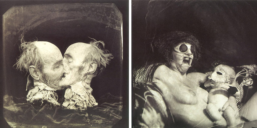 Joel-Peter Witkin - Le Baisier, 1982 (left) - Mother and Child,1979 (right) - images via correnticalde.com.jpg