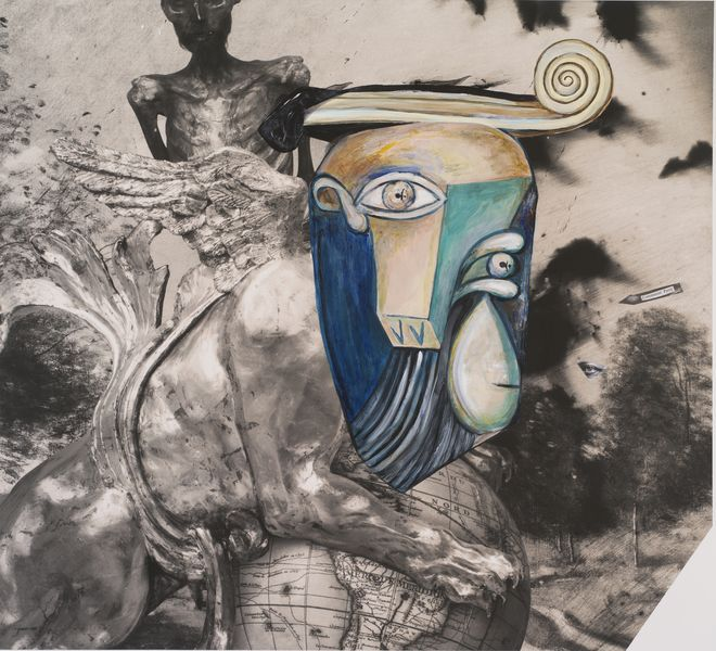 Joel-Peter Witkin - Picasso In Purgatory, New Mexico, 2015 on view at Art Elysées in Paris, France