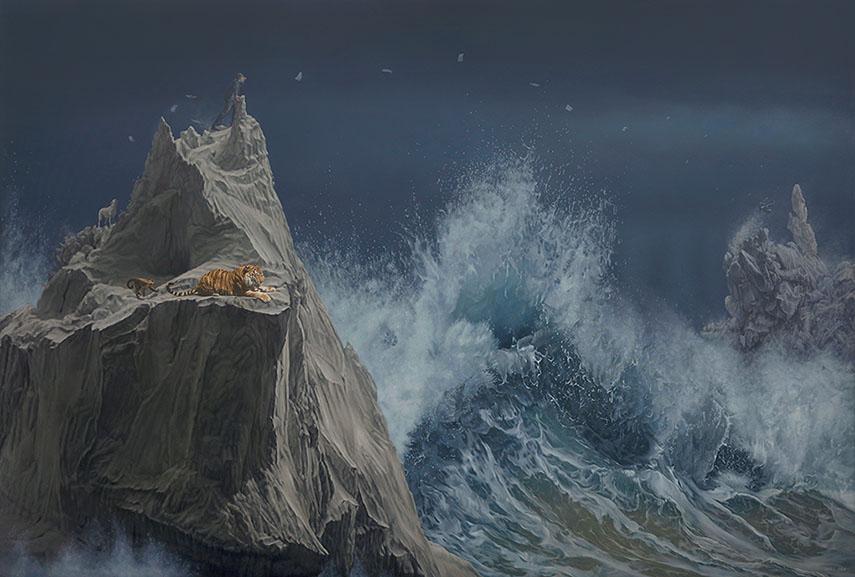 Jonathan LeVine Gallery joel rea exhibition painting video coast gold geladen oil canvas news portrait work