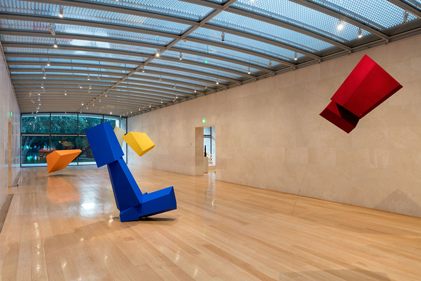 Joel Shapiro, Exhibition views at the Nasher Sculpture Center in 2016