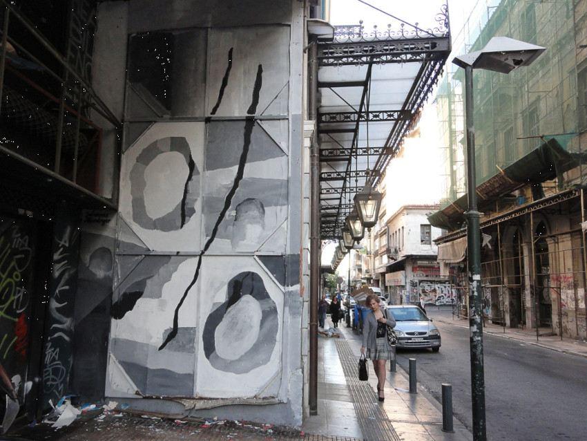 Johannes Mundinger - mural in Athens, Greece, 2016