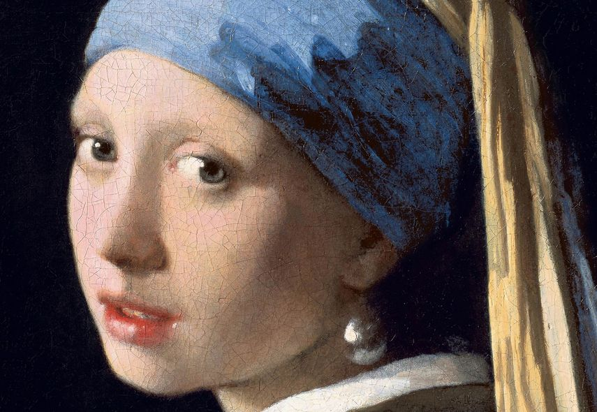 Johannes Vermeer - Girl With a Pearl Earring (detail), c. 1665