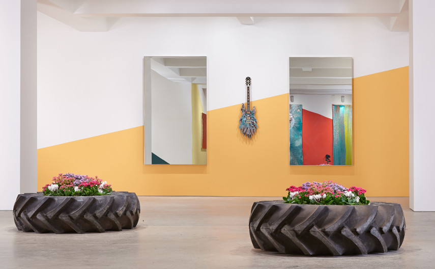 New York installation shows are often untitled, especially if they are at the Nahmad Wall gallery