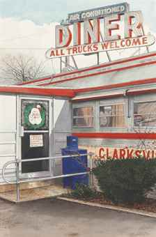 John Baeder-Clarksville Diner-1990