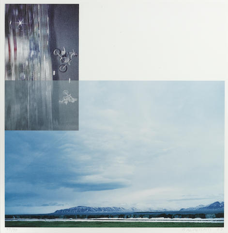 John Baldessari-Double Motorcyclists and Landscape (Icelandic 2003) from The Overlap Series-2003