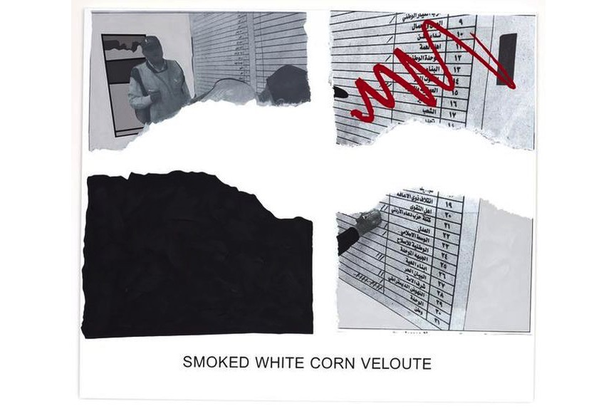 John Baldessari - Morsels And Snippets- Smoked White Corn Veloute, 2013
