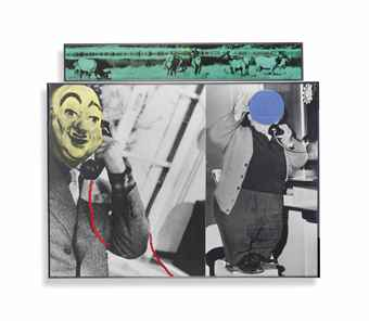 John Baldessari-Two Men and Telephones (with Animals)-1988