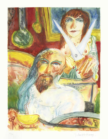 John Bellany-Five plates, from The Bellany Sextet (Samson & Delilah, The Presence, Perdu, The Lovers and The Fright)-1993