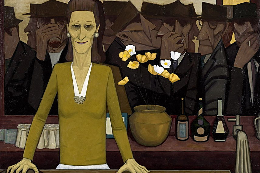 John Brack gallery  melbourne  national view  collins  new  painting