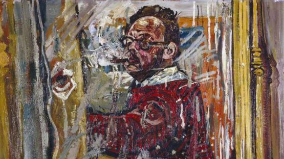 John Bratby - Self Portrait in a Mirror, 1957 (Detail) - Image source wikiart