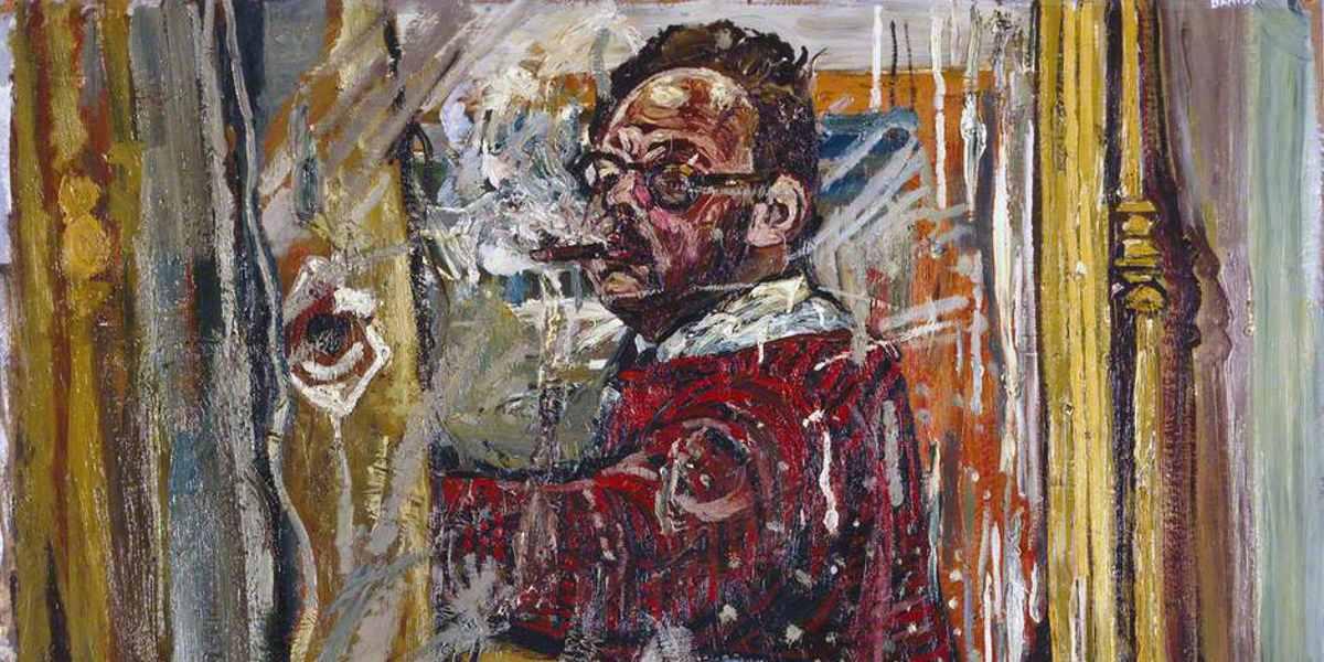 Self Portrait Mirror Painting