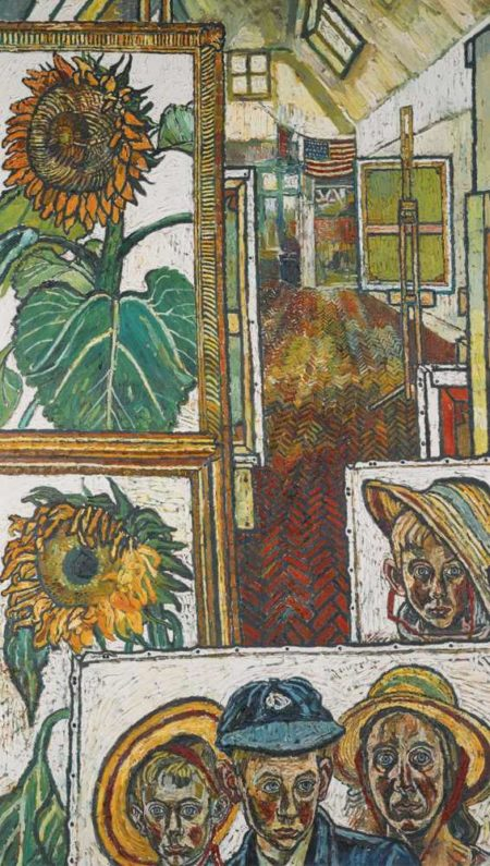 John Bratby-Studio With Paintings-