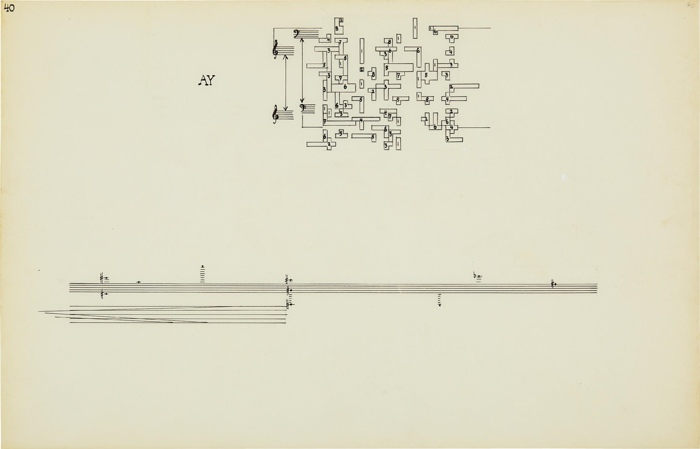 John Cage-Concert for Piano and Orchestra, Solo for Piano, 1957-58, Stony Point, New York-1958