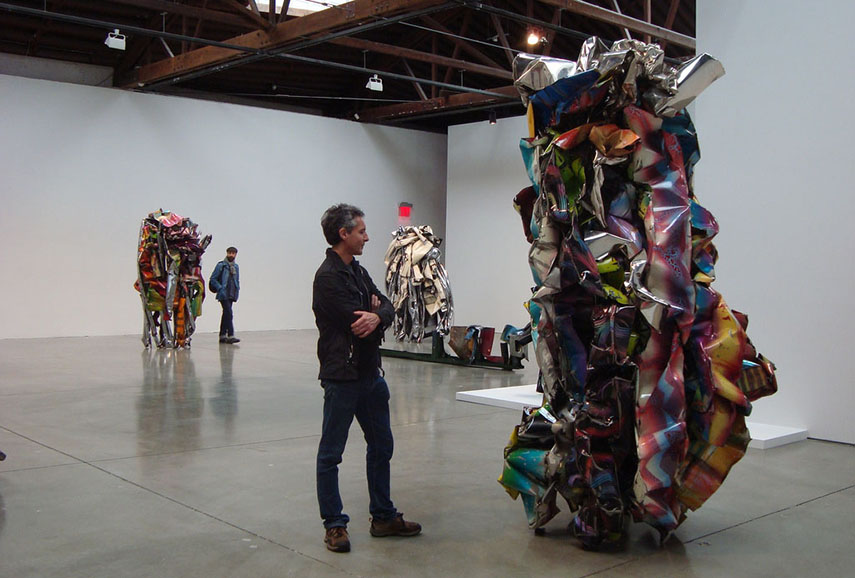 John Chamberlain Art at Pace gallery (image via culturereport.wordpress.com)