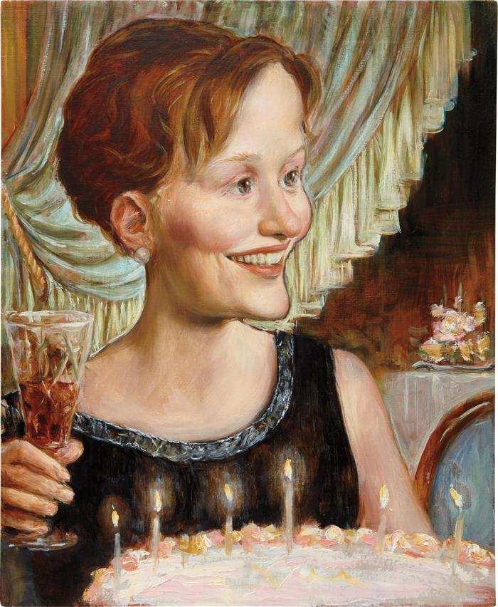 John Currin-Birthday-1999