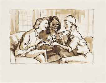 John Currin-Stamford After Brunch-2000