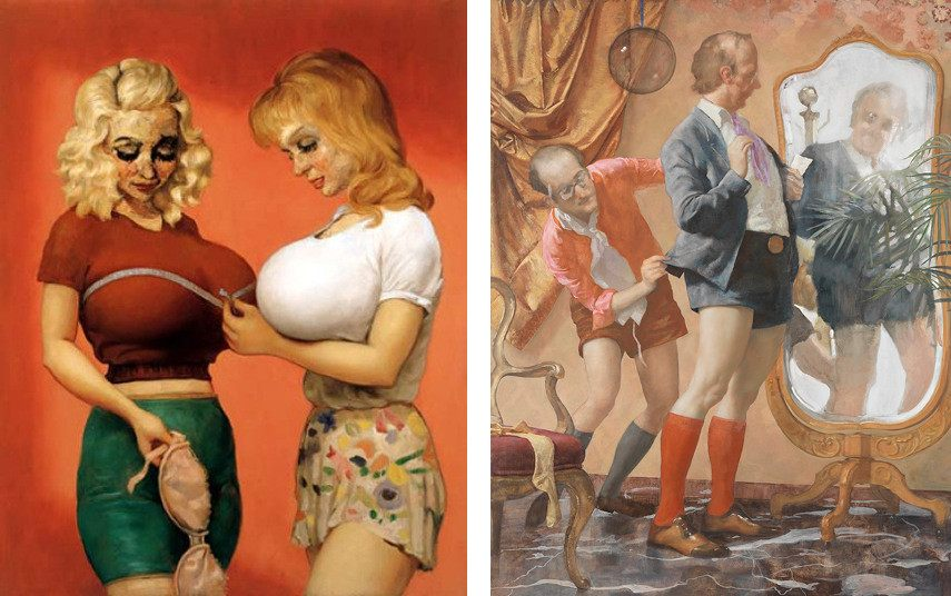 Contact any NYC American gallery to get Currin's works of famous women