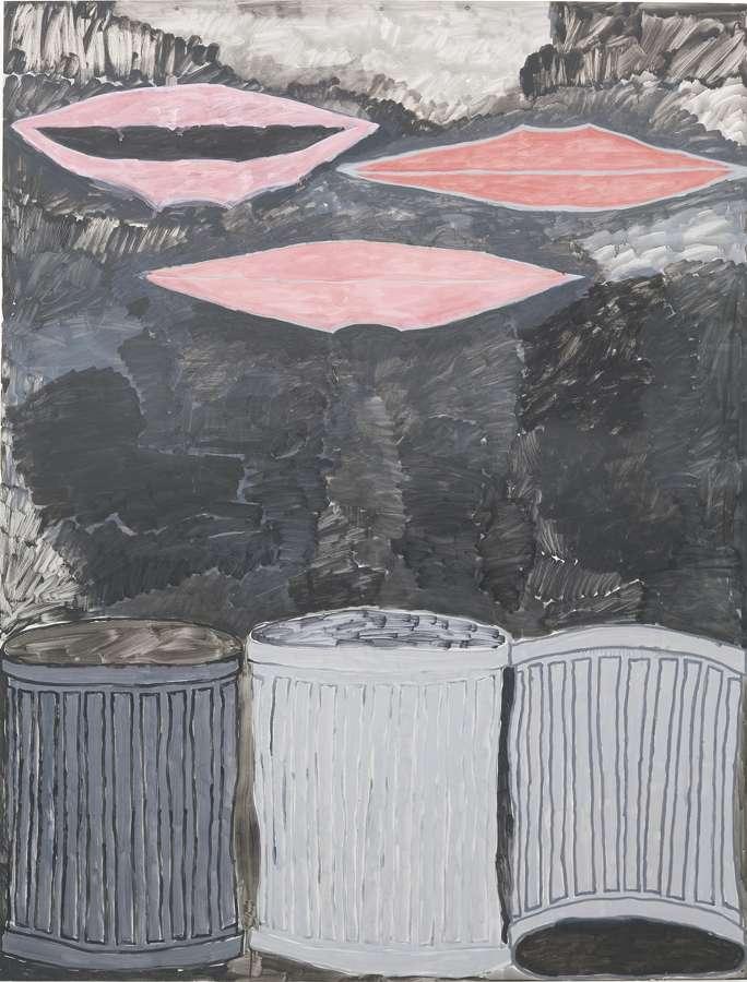 John Finneran-3 Mouths 3 Trash Cans-2008
