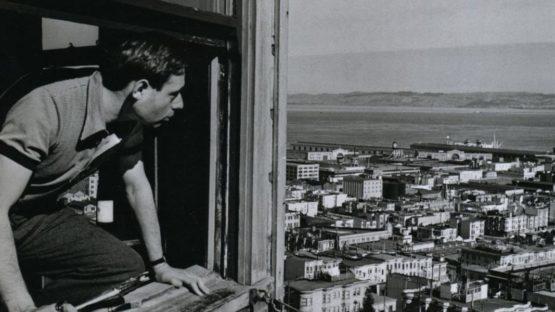 John Gutmann - Self-portrait, Looking at North Beach and Bay, 1934 (Detail) - Photo by John Gutmann