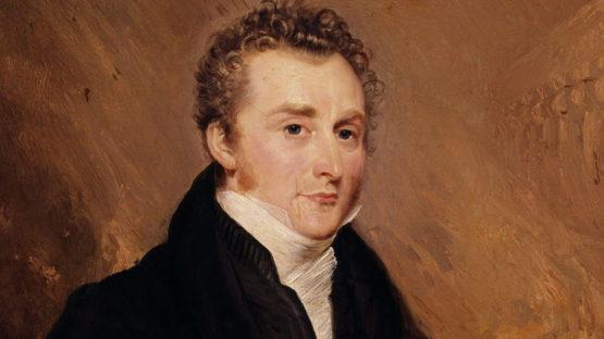 John Martin portrait 1839 (detail) by Henry Warren