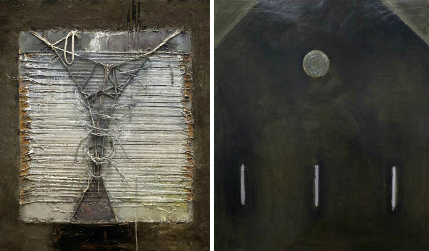 John McCaw - Entangled (left) - Place in Time (right), copyrights artist