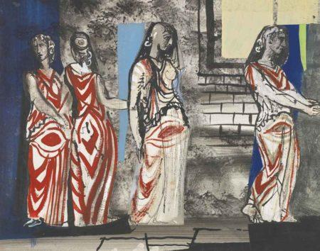John Piper-Standing Figures - Ballet Project-1952