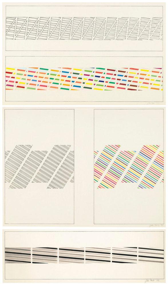 John Plumb-Untitled (Three Geometric Abstract Studies)-1972