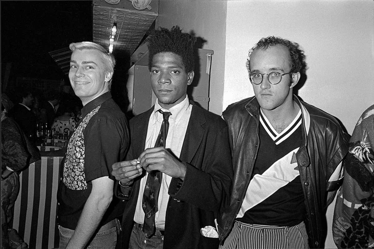 John Sex, Jean-Michel Basquiat and Keith Haring at AREA Club