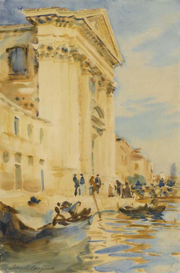 John Singer Sargent-I Gesuati (Canal Scene, Venice; The Church Of The Gesuati, Venice; Il Gesuati, Venice)-1904