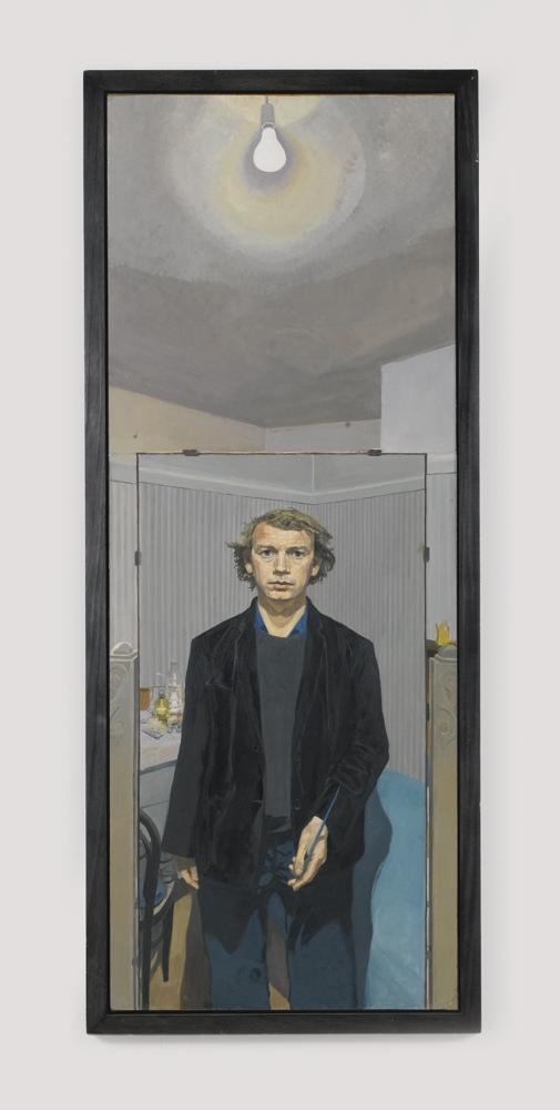 John Wonnacott-Self-Portrait With Electric Light Bulb-1974