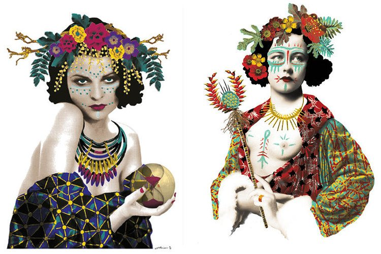 Johnathan Reiner - Fortuna - Totem Series (Left) / Astrea - Totem Series (Right) - new work - print