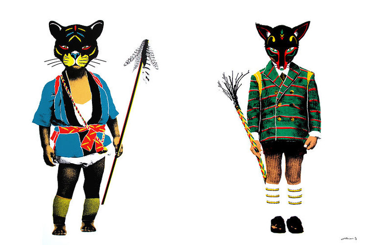 Johnathan Reiner - Kid Spirit 1 - Maui (Left) / Kid Spirit 2 - Zoro (Right) - new work print