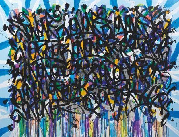 JonOne-Composition Argent-2011