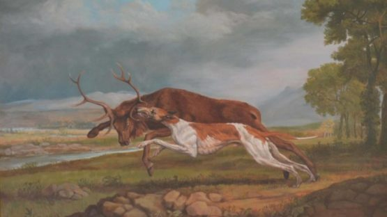 Jonathan Adams - Hound Coursing A Stag (George Stubbs), 2011 (detail)