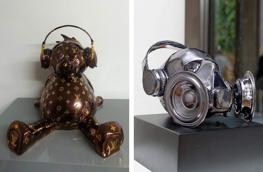 Jonathan Delmas - Bear LV, 2015 (Left), Le Hurleur (Right)