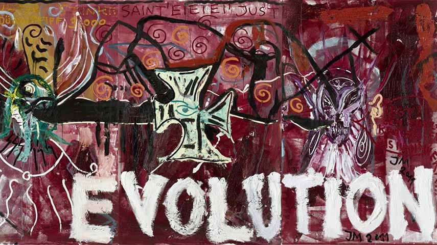 Jonathan Meese - Evolution de Large, 2012 kunst