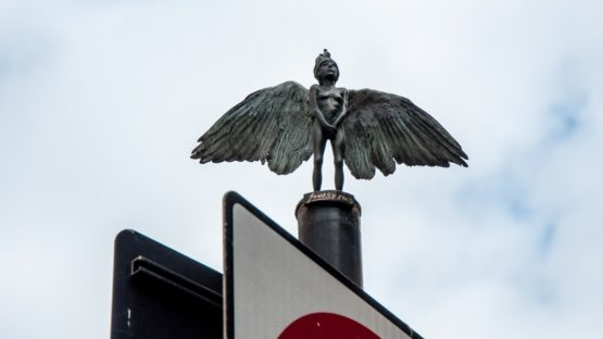 Jonesy - Angel sculpture in East London, 2015
