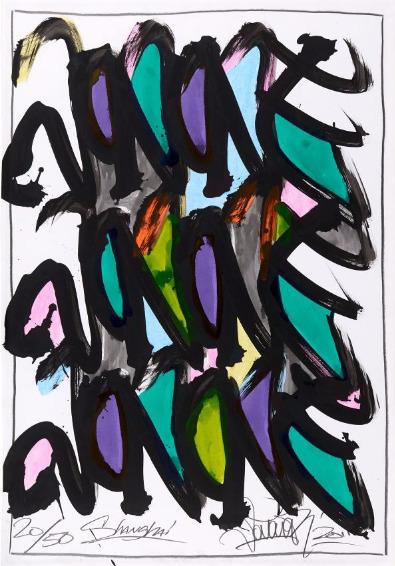 JonOne-Untitled (Serie Shangai)-2011