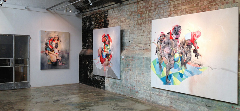 Joram Roukes - The Great Beyond installation at StolenSpace Gallery, 2015.