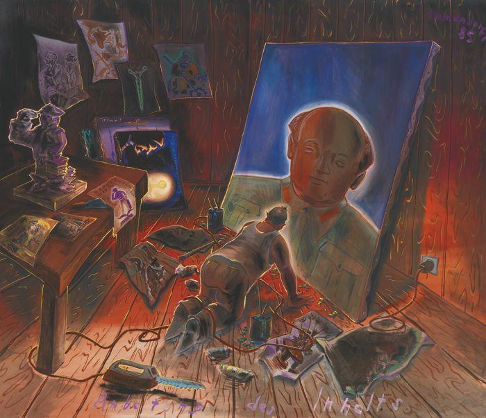 Jorg Immendorff-Anbetung Des Inhalts-1985