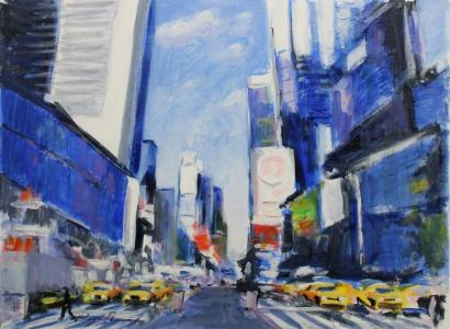 Jorge Borras-New York, rue animee-2014