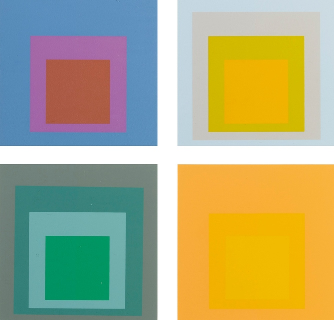 Josef Albers-Homage To The Square - Ten Works By Josef Albers (Danilowitz 156)-1962