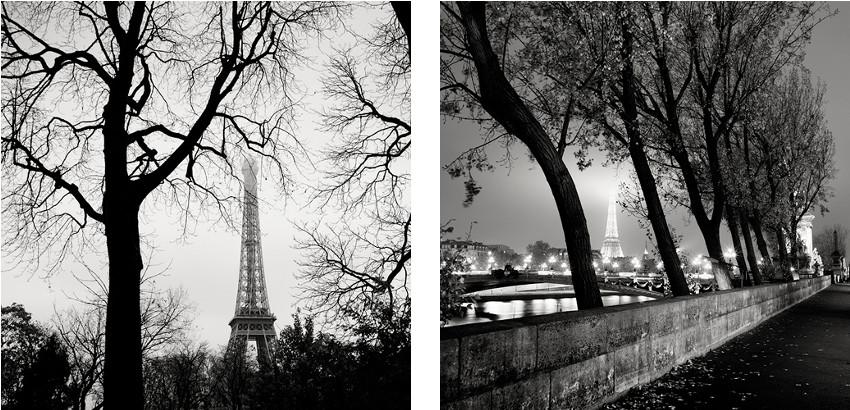 Josef Hoflehner - La Tour Eiffel, Study 6 - Paris, France, 2006 (Left) / Port des Champs-Elysees - Paris, France, 2008 (Right)