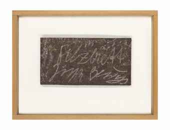 Joseph Beuys-Filzbrett (Felt Board)-1979
