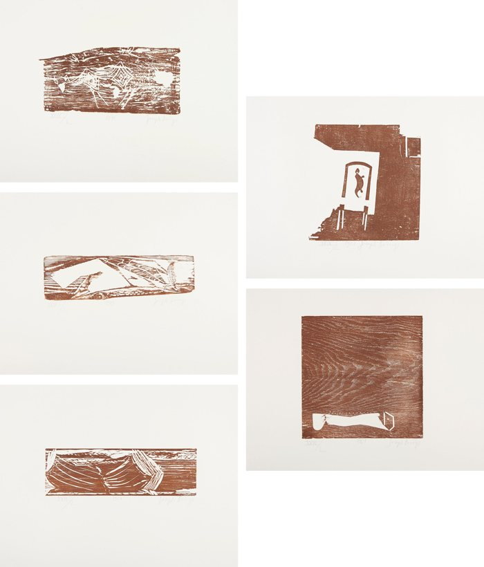 Joseph Beuys-Woodcuts (Holzschnitte)-1974