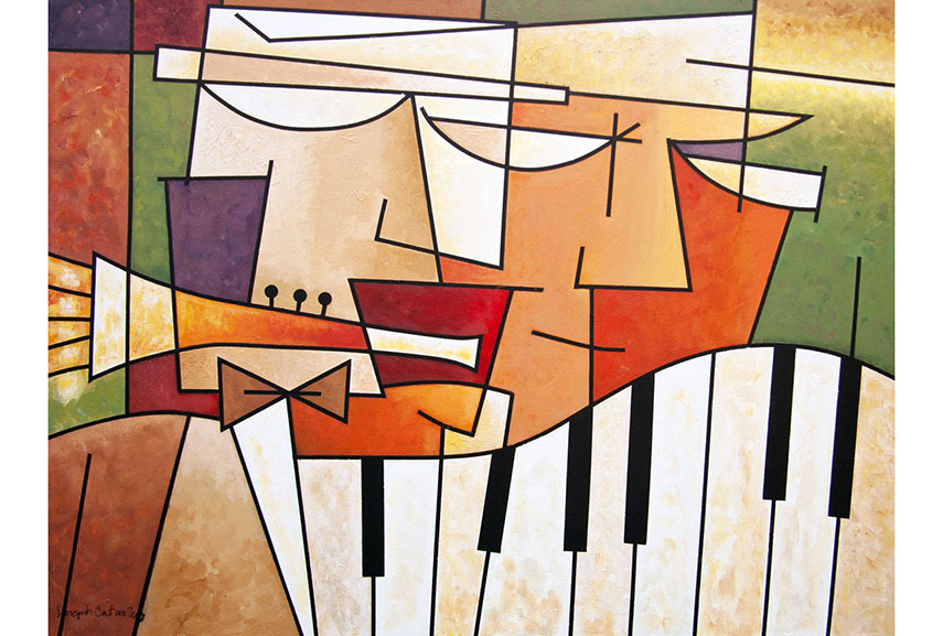 Joseph Catanzaro - Two Musicians, via shopify