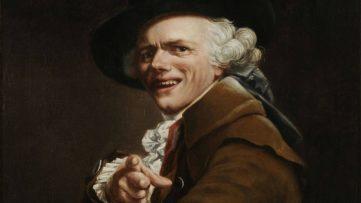 Joseph Ducreux - Portrait de l'artiste sous les traits d'un moqueur, Self-portrait (detail), ca. 1793